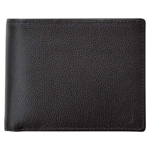 KOBEレザー紳士二つ折り財布クロNP55115 ギフト館