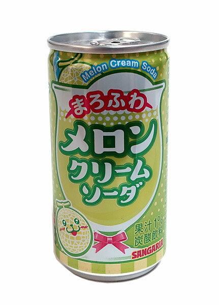 サンガリアまろふわメロンクリームソーダ190g缶 イージャパンモール