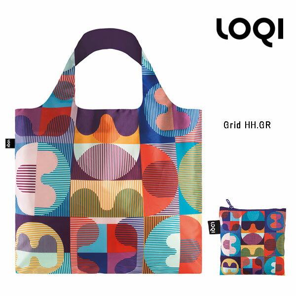 バッグ, エコバッグ LOQI eco-bag ARTIST Collection HVASSHANNIBAL GridHH.GR