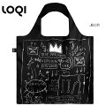 LOQIローキーeco-bagエコバッグMuseumcollectionJB.CRJEAN-MICHELBASQUIAT/UntitledCrownジャン=ミシェル・バスキア