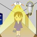 LEDセンサー電球