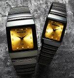 ペレバレンチノ(PERVALENTINO)ダイヤモンドミラノ角時計/ゴールド文字盤 2本セット