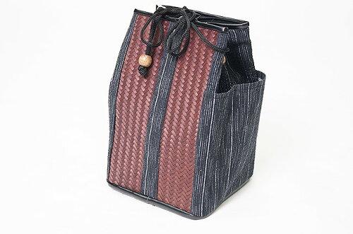 信玄袋 巾着 底付き-竹使用 194-8980 日本製