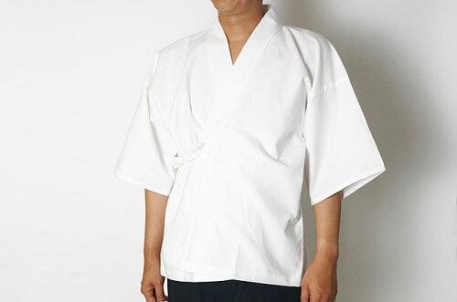 日本製 作務衣下着 肌着シャツ 綿100%ネルM〜LL ネコポスで送料無料