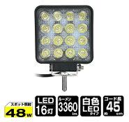 Kashimuraworks製12V24V対応LED16灯48Wワークライト作業灯ML-8広角照射3360lm