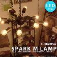 ペンダントライト [SPARK M LAMP:スパーク M ランプ] 9灯 おしゃれ 照明 ライト LED対応 西海岸 ビンテージ リビング用 居間用 寝室 スチール ヴィンテージ アメリカン レトロ ミッドセンチュリー プルスイッチ 点灯切替 HERMOSA ハモサ LED対応 シャンデリア
