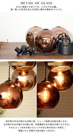 ペンダントライト 照明 [SAN MARCO サンマルコ] ガラス 3灯 ブルックリン カフェ ダイニング用 食卓用 店舗 内装 キャッシャー上 キッチンカウンター ライティングレール/ダクトレール(要プラグ) LED対応 ビンテージ おしゃれ 天井照明 HERMOSA ハモサ 送料無料