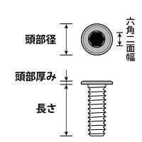極薄頭六角穴付きボルト並目ピッチM4-0.7x20【ステンレス(SUS304相当材)/生地/1000個入】(頭部径8頭部厚み1.5六角二面幅2)