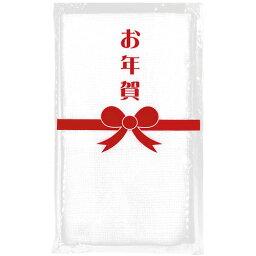 お年賀 御年賀タオル PP袋入 名刺・チラシ入れポケット付き 白 フェイスタオル ホワイト 無地【のし・包装不可】