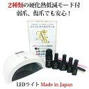 ジェルネイルキット最新型日本製LEDライトn2初心者も安心の5年間サポート付【送料無料】【HLS_D...