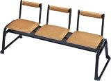 アルミ製 三人用椅子 背付 2脚組