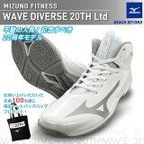 予約 2020年9月上旬発売 MIZUNO ミズノ ウエーブダイバース LG3 Ltd 20th 20周年記念 限定モデル WAVE DIVERSE フィットネスシューズ 男女兼用 2E K1GF2075-01