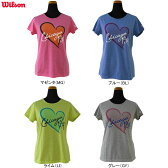 【Tシャツ均一セール】wilson(ウィルソン)女性用(レディース) 半袖Tシャツ WRAJ369【メール便指定可能】◇