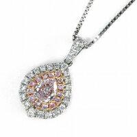 【ピンクダイヤモンドダイヤモンド】ネックレスPT900PT850K18PGピンクダイヤモンド(PearBrilliantCut/VS2/LightPurplePink)ダイヤモンド【中古】