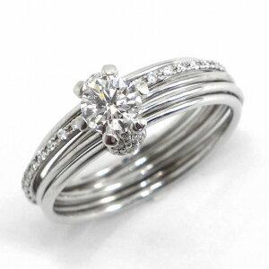 フォーエバーマークリングミルモアソリティアK18WGダイヤモンド(E/SI1/3EX)9号【中古】