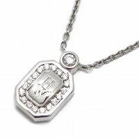 ハリーウィンストンネックレスHWロゴK18WGダイヤモンド【中古】