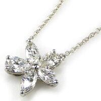 ティファニーネックレスヴィクトリアミックスクラスターラージPT950ダイヤモンド【中古】