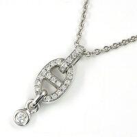 エルメスネックレスシェーヌダンクルK18WGダイヤモンド0.18ct【中古】