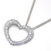 ポンテヴェキオネックレスエモツィオーネK18WGダイヤモンド2.93ct【中古】