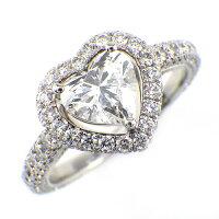 グラフリングコンステレーションK18WGハートシェイプダイヤモンド(E/VS2)0.74ct8.5号【中古】