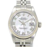 ロレックスRolex腕時計デイトジャストホワイトシェルローマン文字盤79174NRK18WGSS自動巻き【中古】