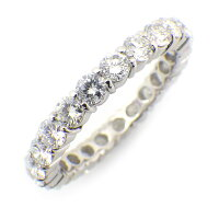 【ダイヤモンド】リングフルエタニティダイヤモンド1.88ctGカラー前後VS〜SIクラリティPT90011号【中古】