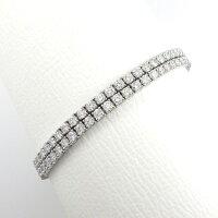 【ダイヤモンド】ブレスレット2連ダイヤモンド10.0ctGカラー前後VSクラリティPT900PT850【中古】
