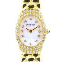 ポーラPOLA腕時計ラヴィドールシェル文字盤ダイヤベゼル960312ポイントダイヤモンド0.52ctサファイアK18YGクォーツ【中古】