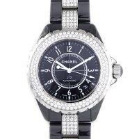 シャネルCHANEL腕時計J12H1339ベゼルダイヤブレスセンターダイヤブラック文字盤ダイヤモンドステンレススチールブラックセラミック自動巻き【中古】