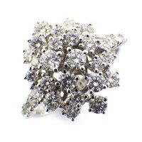 ダミアーニDAMIANIリングミモザフラワーダイヤモンド1.24ctK18WG11.5号【中古】