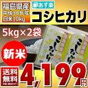 【クーポン使用で10%オフ】【新米】コシヒカリ 5kg×2袋 白米 1...