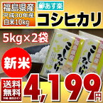 コシヒカリ 5kg×2袋 白米 10kg 福島県 30年産 送料無料 あす楽_土曜営業