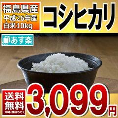 コシヒカリ 26年福島県産白米10kg(5kg×2)【あす楽】【送料無料】【こしひかり】【米】【コメ】