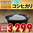 【あす楽_土曜営業】【送料無料】27年福島県産コシヒカリ白米10kg(5kg×2…