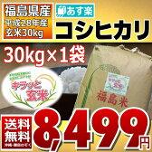 【平成28年】福島県産 キラッと玄米 コシヒカリ 30kg 【送料無料】【あす楽_土曜営業】【調製済玄米】