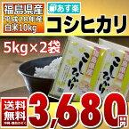 コシヒカリ 5kg×2袋 白米 10kg 福島県 28年産 送料無料 あす楽_土曜営業