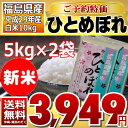 ((新米))ひとめぼれ 5kg×2袋 白米 10kg 福島県 29年産 送料無料 あす楽_土曜営業