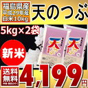 (新米)天のつぶ 5kg×2袋 白米 10kg 福島県 29年産 送料無料 在庫限り【通常発送】