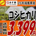 27日までこの価格★【あす楽対応】【送料無料】25年福島県産コシヒカリ白米10kg(5kg×2)【こし...