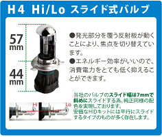 55W極薄H4Hi/Lo切り替え式HIDフルキットリレーレスタイプ12V専用※三年保証