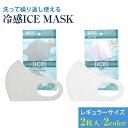 冷感マスク 2枚入り レギュラーサイズ マスク 冷感 マスク 夏用 洗える ICE MASK ホワイト グレー 選択 マスク 涼しい 夏 吸湿速乾 立体型 マスク 繰り返し使える 感染予防 マスク UVカット 花粉症 PM2.5 対策 ポイント消化 定形外郵便 送料無料