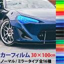 レンズ カーフィルム ミラー/ノーマル 汎用【30×100cm】 16色...