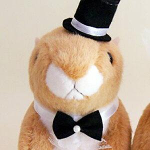 ウェディングドール・結婚式ぬいぐるみ・プレーリードッグ【ウエルカムドール】