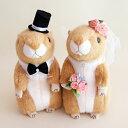 珍しいプレリードッグのウェルカムドール ウェディングドール 結婚式の人形 ぬいぐるみ ウェルカムドールで受付を可愛く演出|ウエルカムドール プレリードッグ 高砂 受付 ドリンクスペース フォトブース