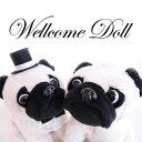 パグぬいぐるみ ウェルカムドール ウェルカムドック(パグ)結婚式 ぬいぐるみ 高砂 受付 フォトスペース ドリンクスペース 結婚祝い|ギフト|
