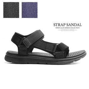 サンダル メンズ 靴 スポーツサンダル 黒 ブラック ネイビー 軽量 軽い クッション スポサン おしゃれ 2021新作