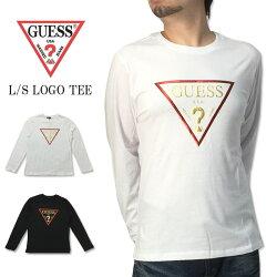 GUESS(ゲス)シンプル発泡プリントロゴプリント立体プリント長袖Tシャツトップスカットソーブラックホワイト黒白グェスロサンゼルスゲスMI2K8406LS通販通信販売※送料無料に関するご注意事項の確認を必ずお願いします。