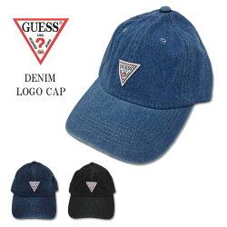 GUESSゲスグェスシンプルロゴデニムキャップライトブルーダークブルーブラックジーンズ帽子7720Jフリーサイズ【楽ギフ_包装】