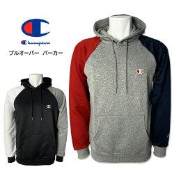 CHAMPION(チャンピオン)プルオーバーパーカークレイジーパターン切り替えカジュアルスポーツ上着アウターオシャレロゴ刺繍C3-QS105