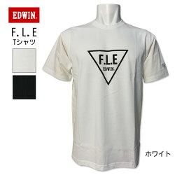 エドウィンEDWIN(エドウィン)クルーネックロゴプリントTシャツシンプルホワイト白ET5680シンプルカットソー快適な着心地【楽ギフ_包装】今年最新